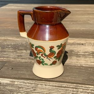 Vintage McCoy pottery rooster syrup pitcher USA